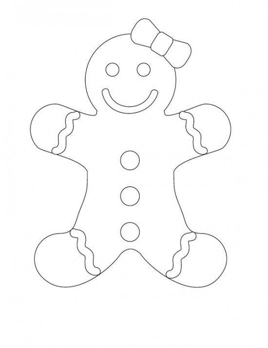 Gingerbread Man Coloring Pages Free To Print