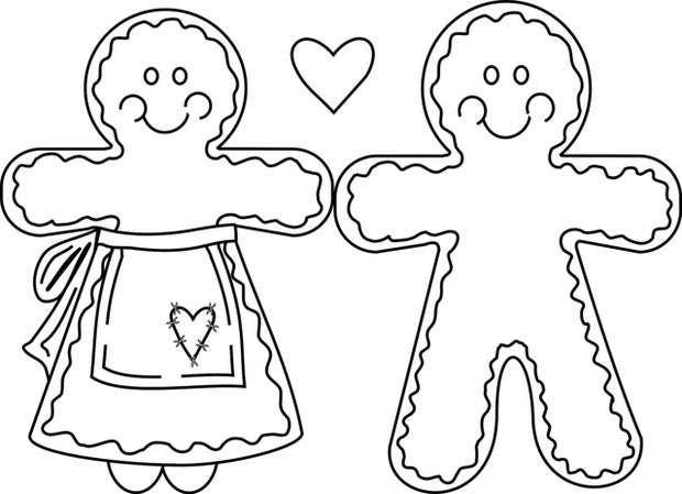 Gingerbread Man Coloring Pages Printable