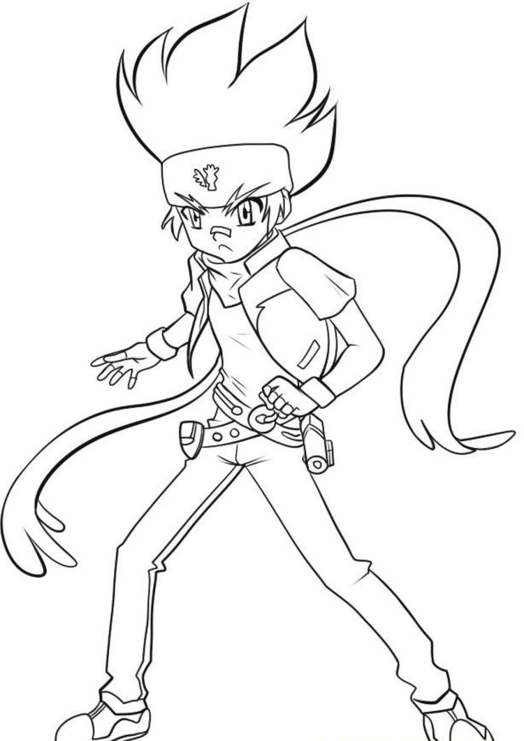 Gingka Beyblade Coloring Pages