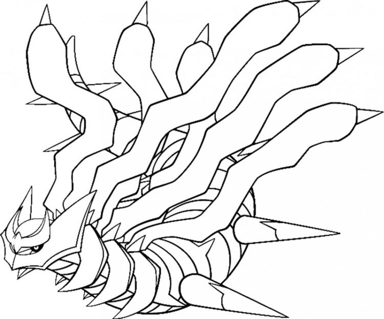 Giratina Legendary Pokemon Coloring Pages