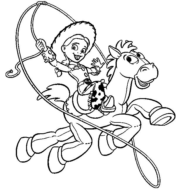Girl Coloring Pages Printable Toy Story