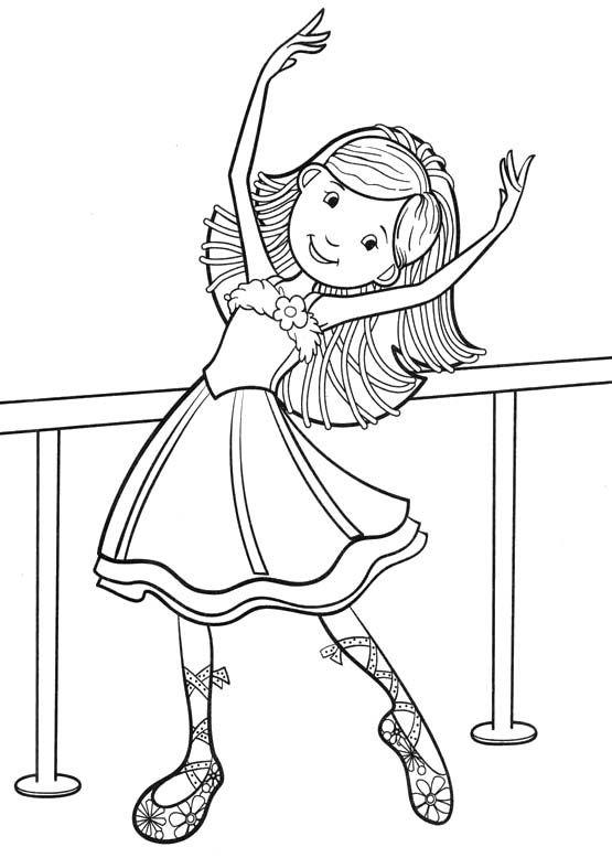 Girl Dance Coloring Pages
