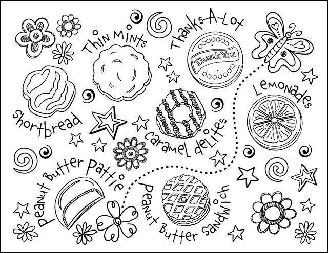 Girl Scout Coloring Pages Cookies