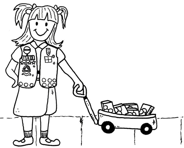 Girl Scout Coloring Pages For Brownies