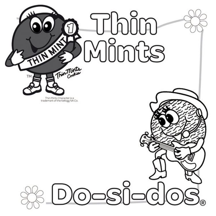 Girl Scout Coloring Pages Thin Mints And Do Si Dos