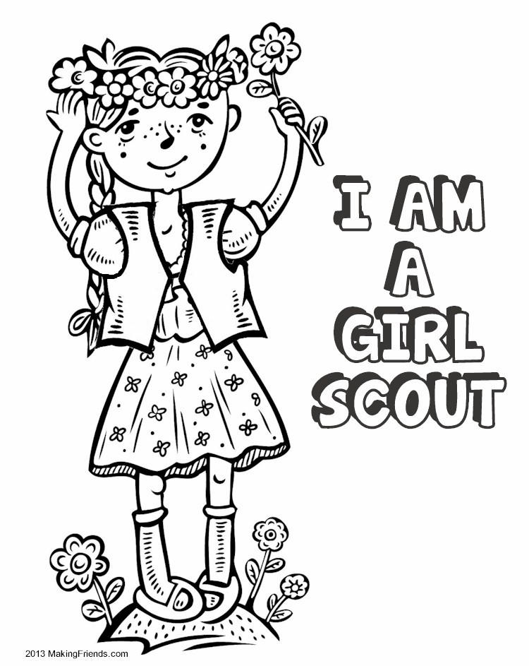 Girl Scout Coloring Pages To Print