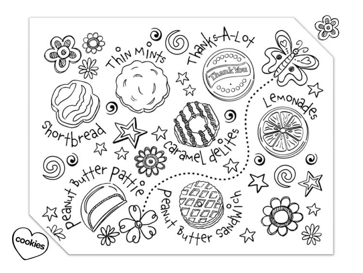 Girl Scout Cookies Coloring Pages