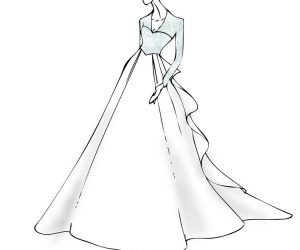 Girl wedding dress coloring pages