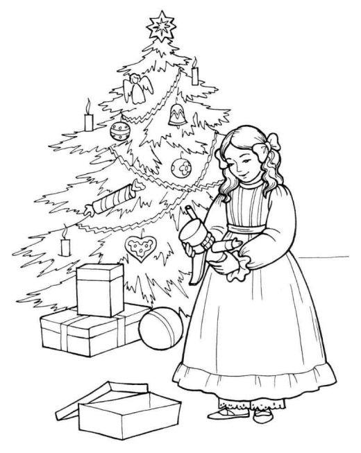 Girl With Nutcracker Coloring Pages