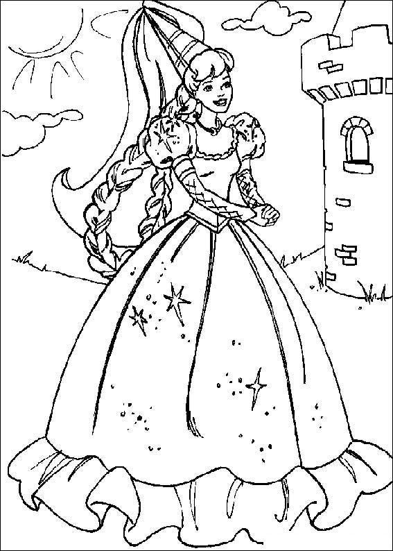 Girls Coloring Pages Barbie Princess
