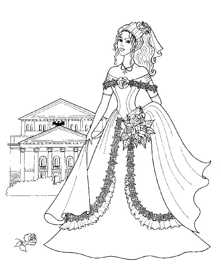 Girls Coloring Pages Bride