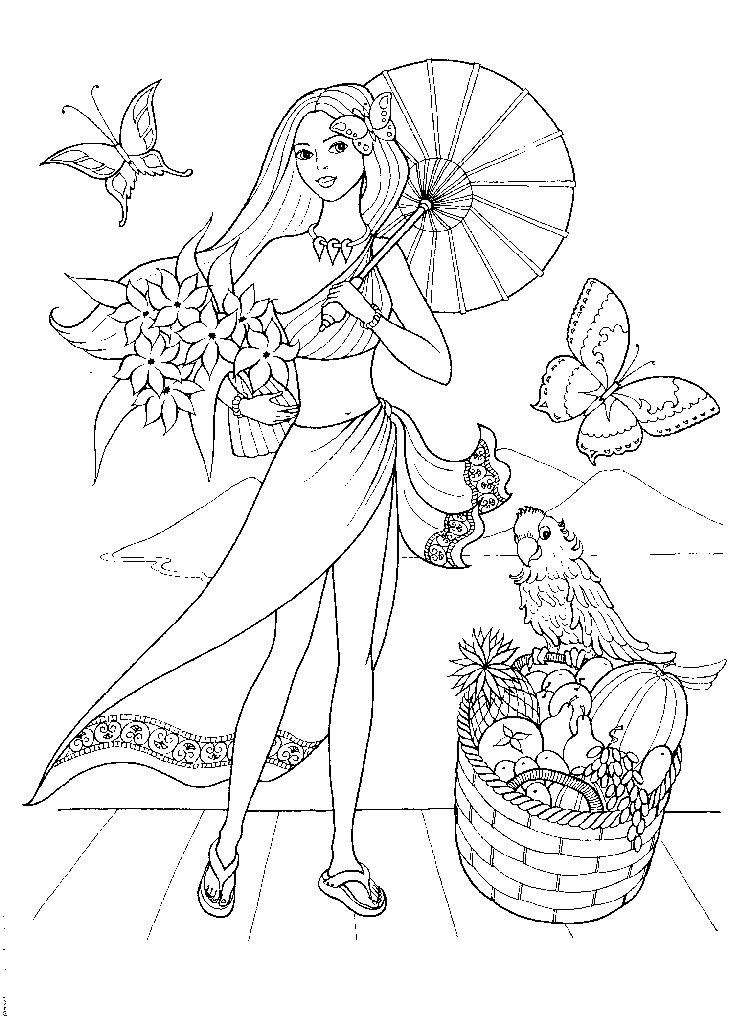 Girls Coloring Pages Printable Free