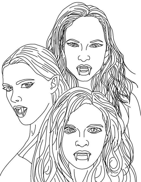 Girls Vampire Coloring Pages