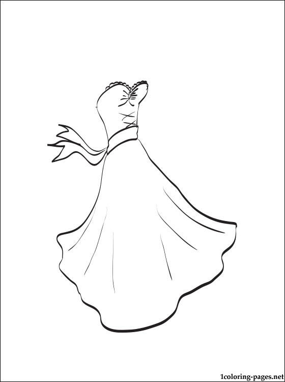 Girls Wedding Dress Coloring Pages