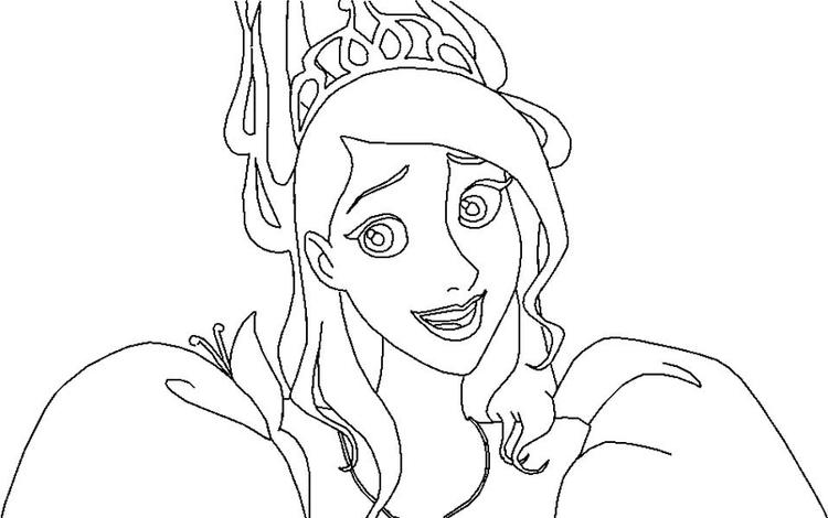 Giselle Is Confuse In Enchanted Coloring Pages