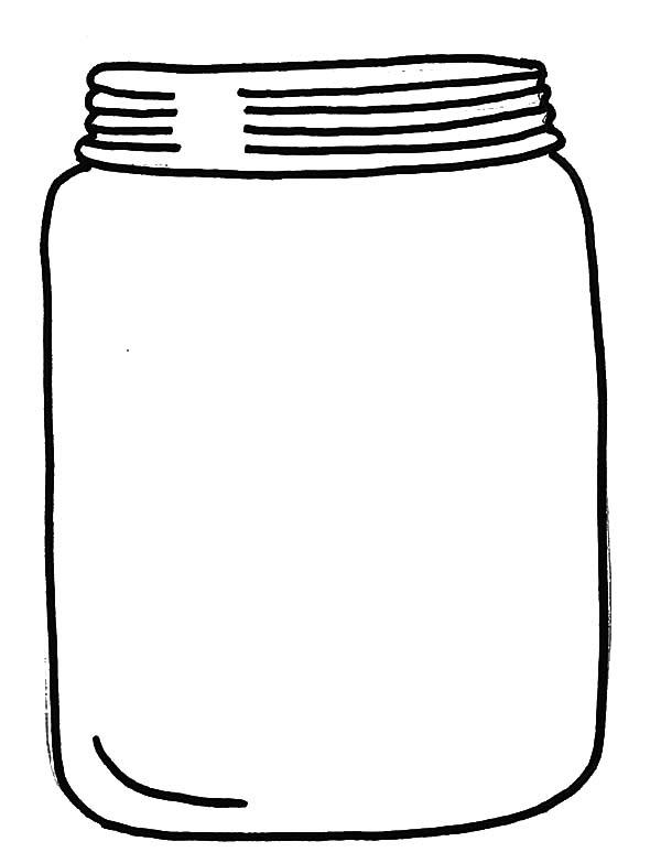 Glass Jar With Cover Coloring Pages