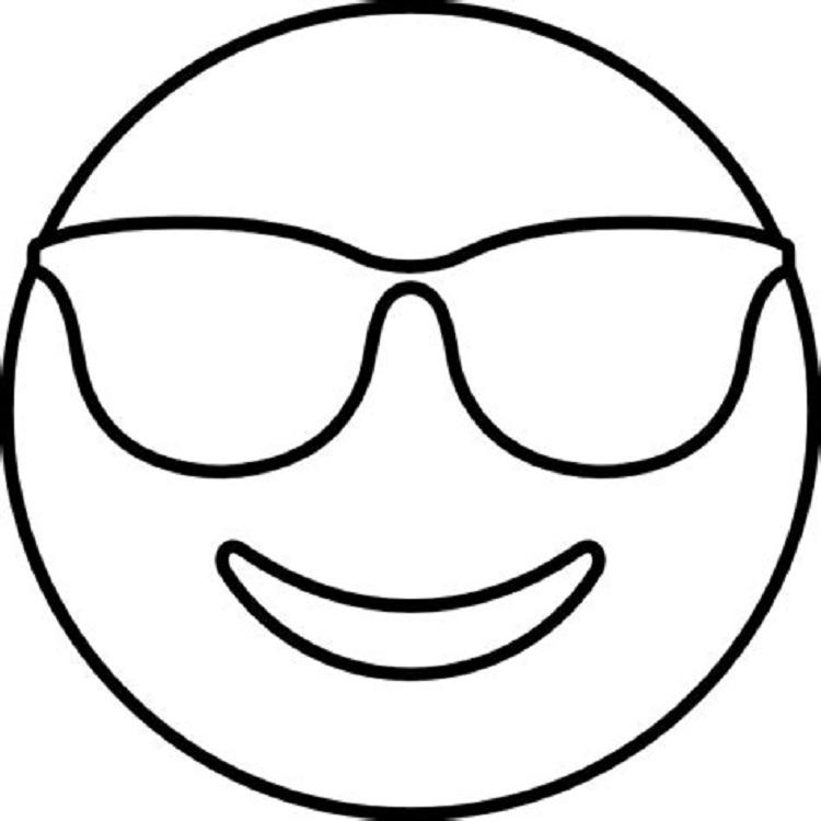 Glasses Emoji Coloring Pages