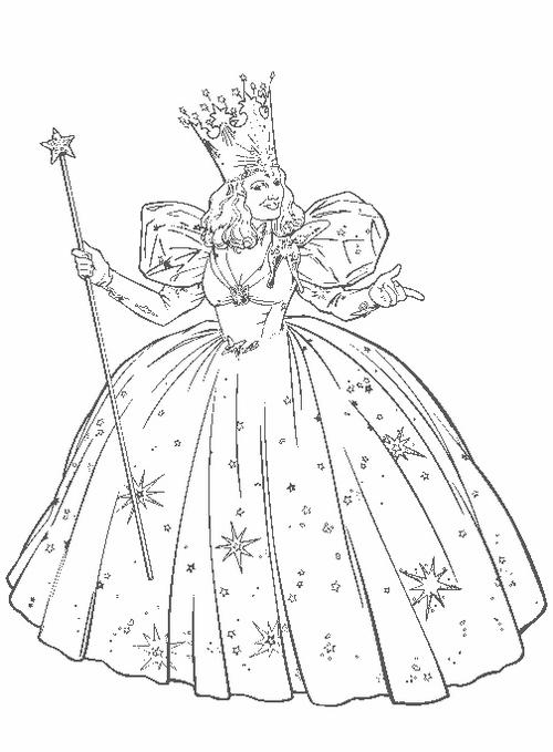 Glinda From Wizard Of Oz Coloring Picture