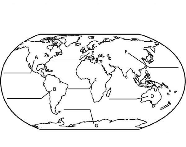 Globe Maps Coloring Pages