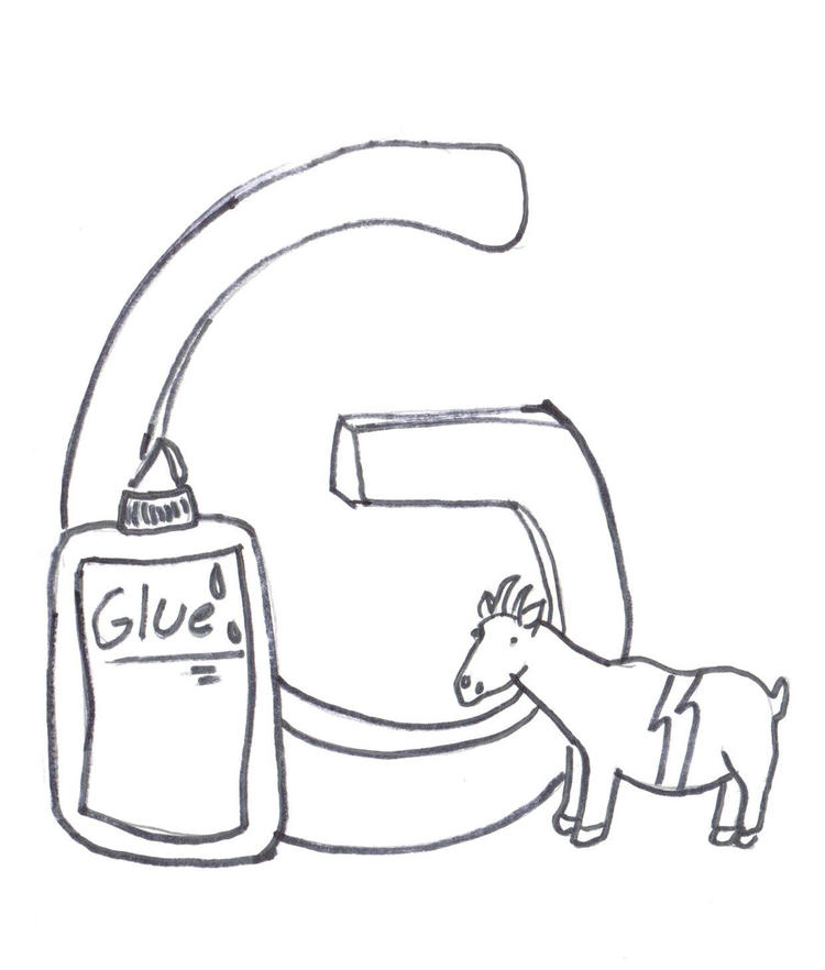 Glue And Goat Coloring Pages Alphabet G