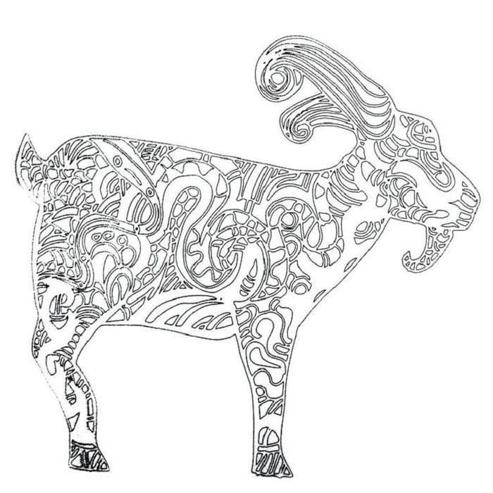 Goat Coloring Pages For Adults