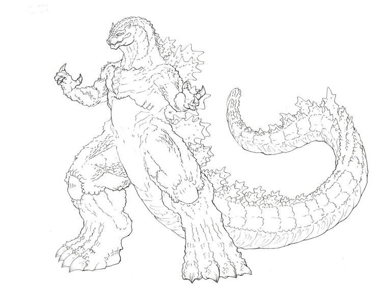 Godzilla Coloring Pages By Tgping