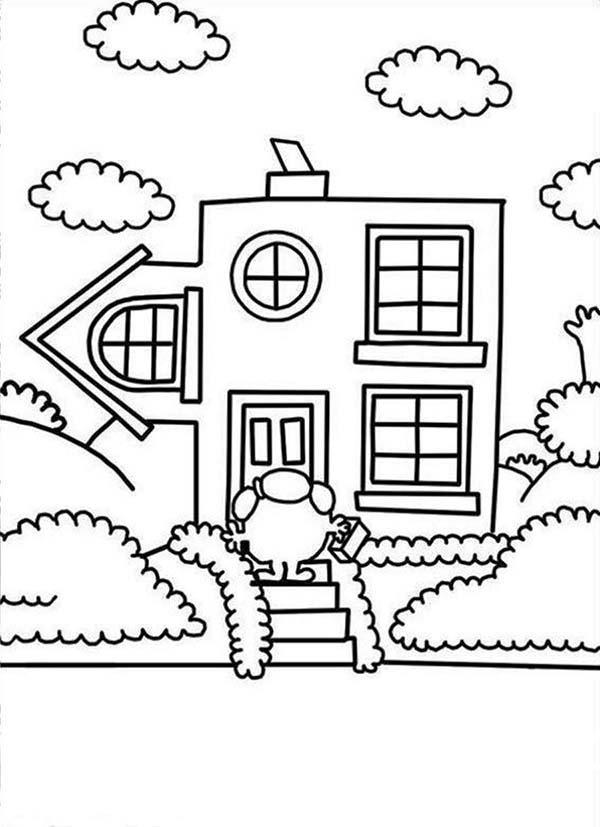 Going Home In Mr Men And Little Miss Coloring Pages