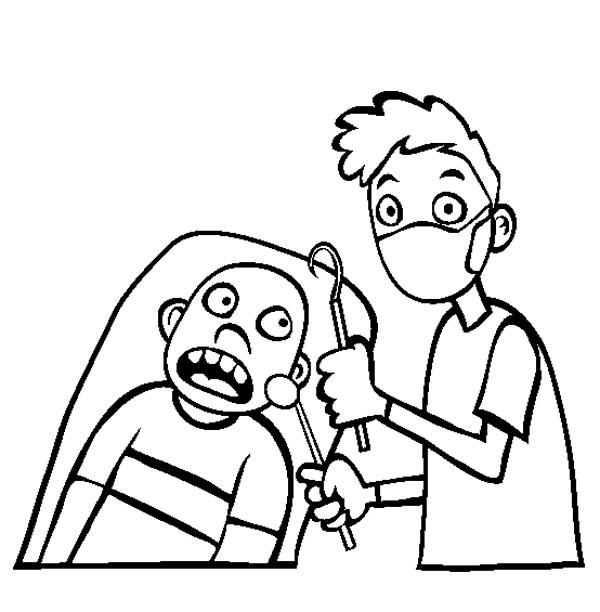 Going To Dentist For Healthy Teeth Coloring Pages