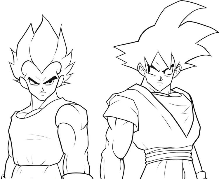 Goku Coloring Pages And Vegeta