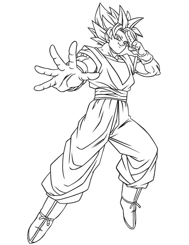 Goku Coloring Pages Dbz