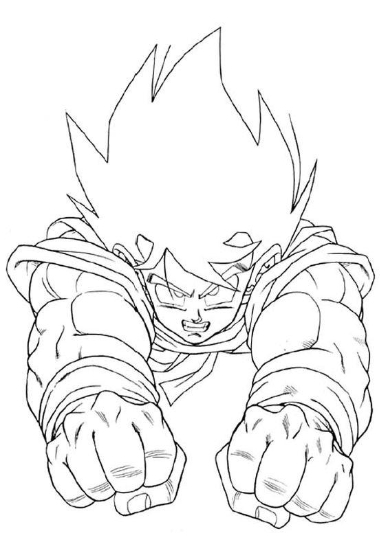 Goku Coloring Pages Flying