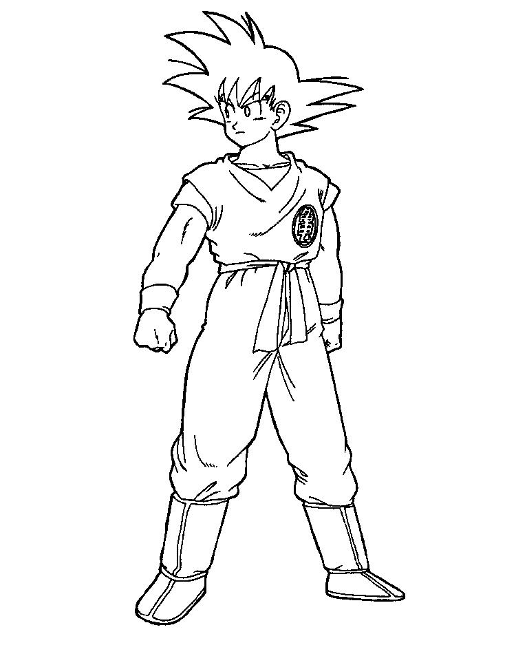 Goku Coloring Pages For Kids