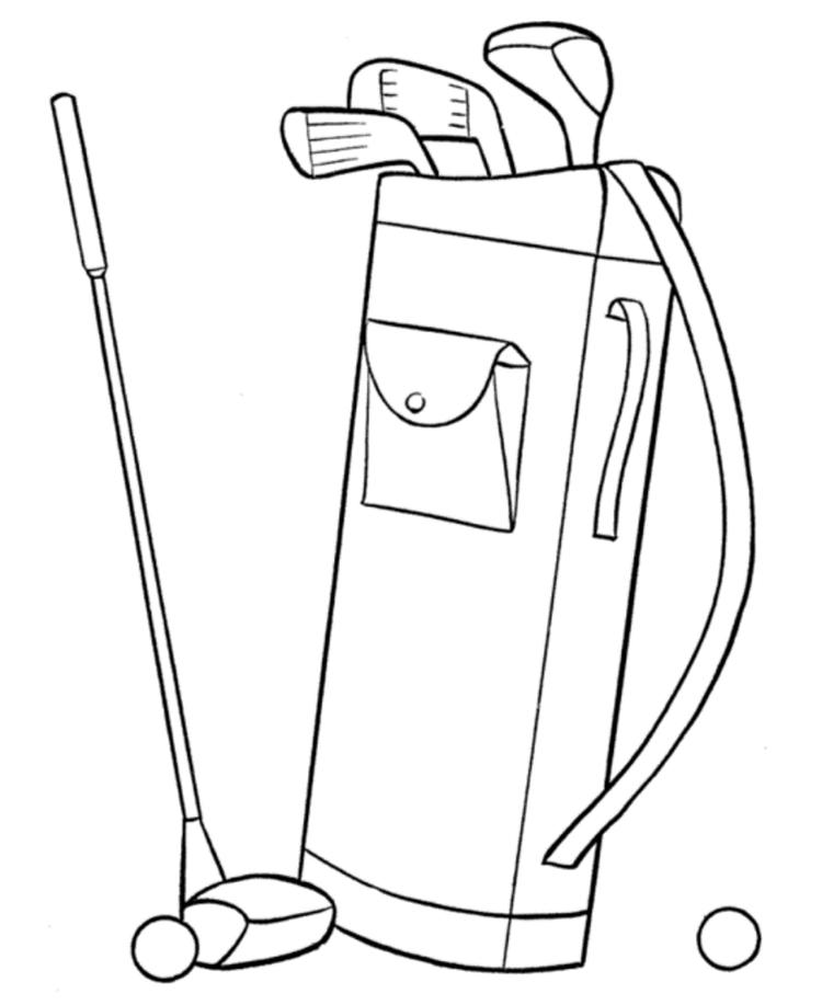 Golf Stuff Sports Coloring Pages