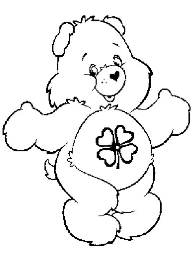 Good Luck Bear Coloring Pages