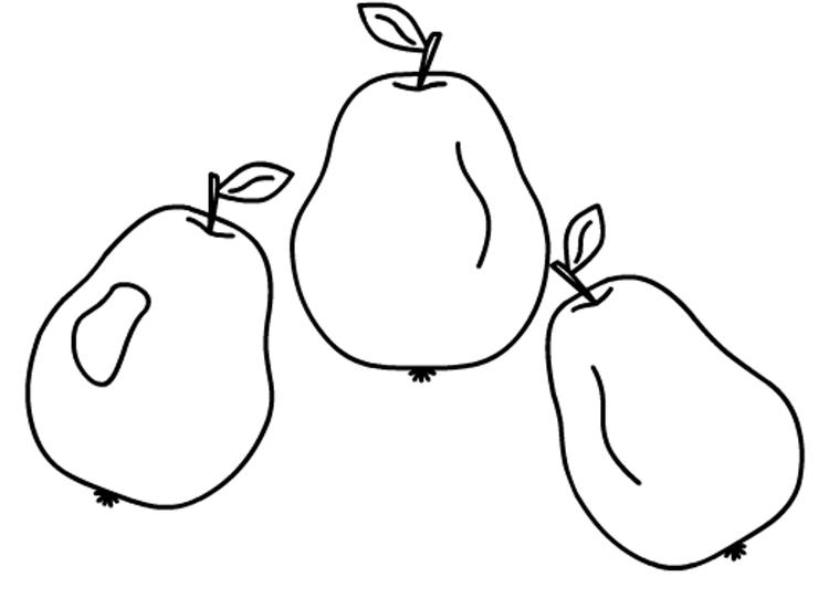 Good Pears Fruit Coloring Pages