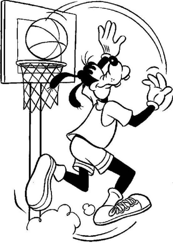 Goofy Sports Coloring Pages