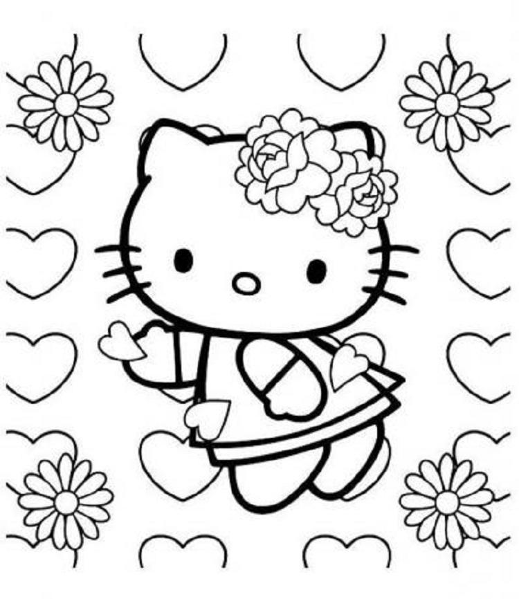 Google Hello Kitty Coloring Pages