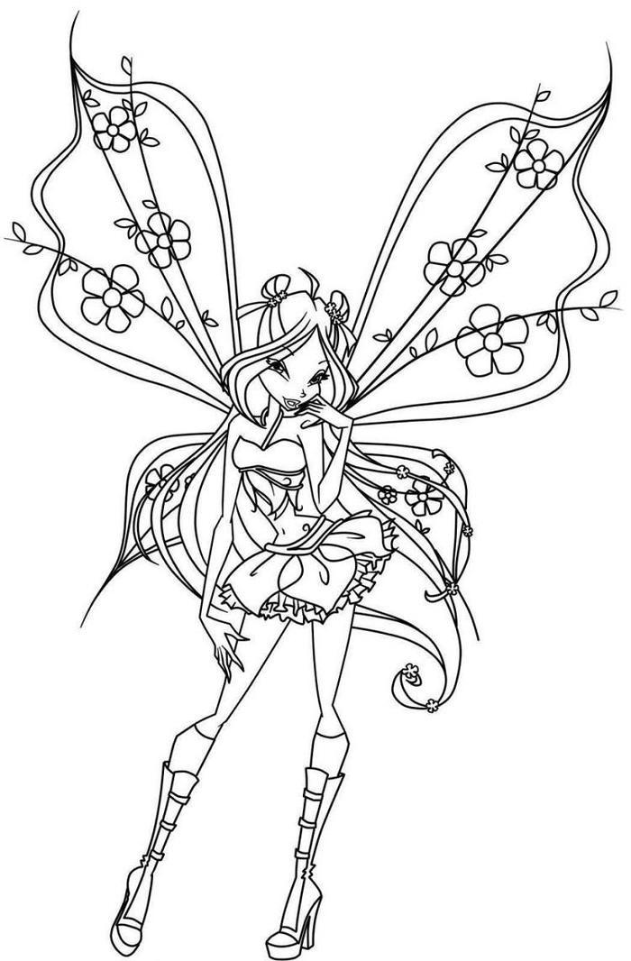 Gothic Fairies Coloring Pages Free
