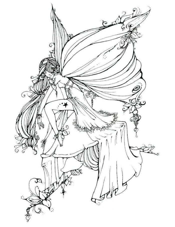 Gothic Fairies Coloring Pages Online