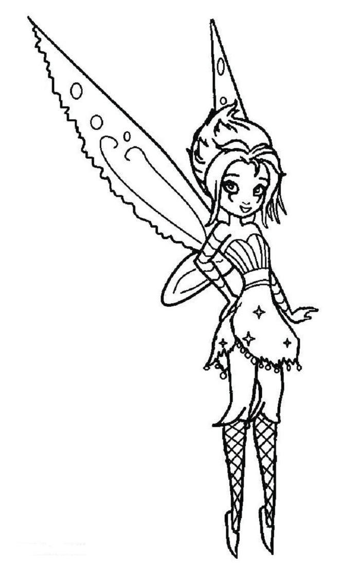 Gothic Fairies Emo Coloring Pages