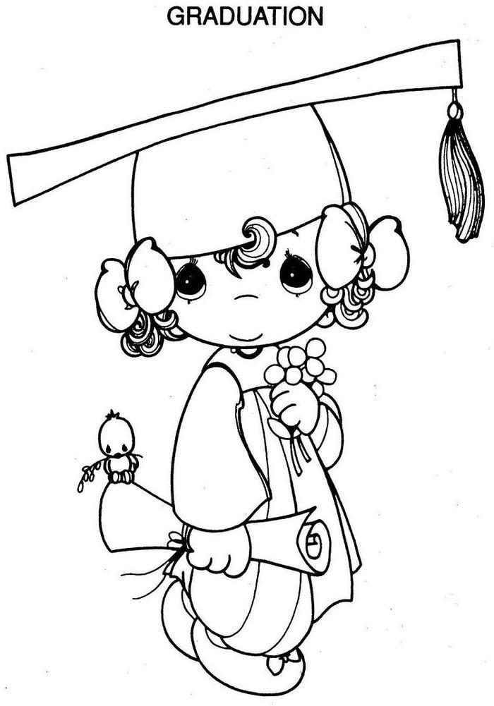 Graduation Girl Coloring Pages