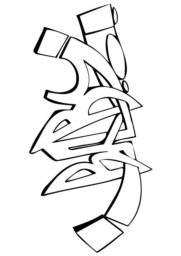Graffiti Coloring Pages Baby