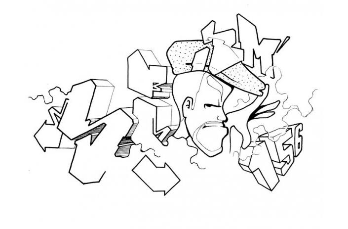 Graffiti Coloring Pages Free To Print