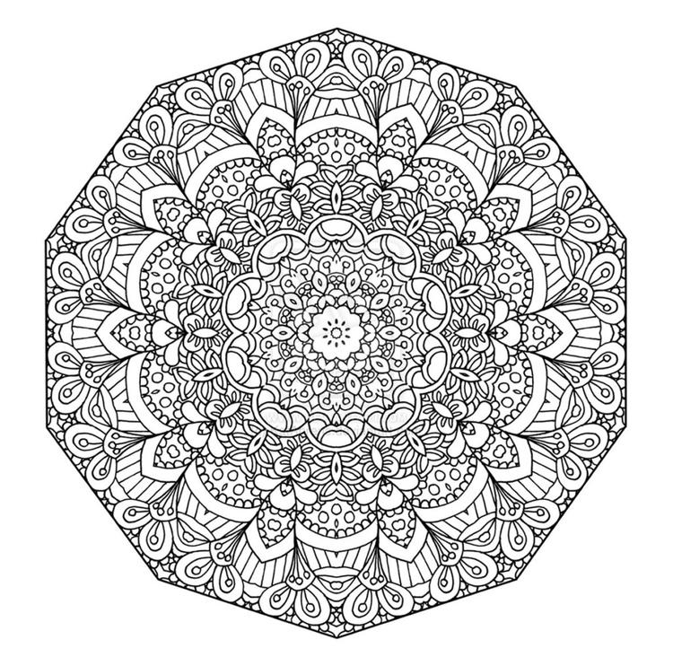 Great Adult Coloring Pages Mandala Printable