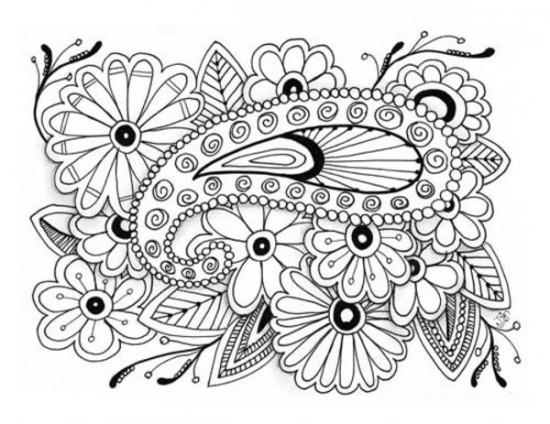 Great Adult Flower Coloring Pages Printable