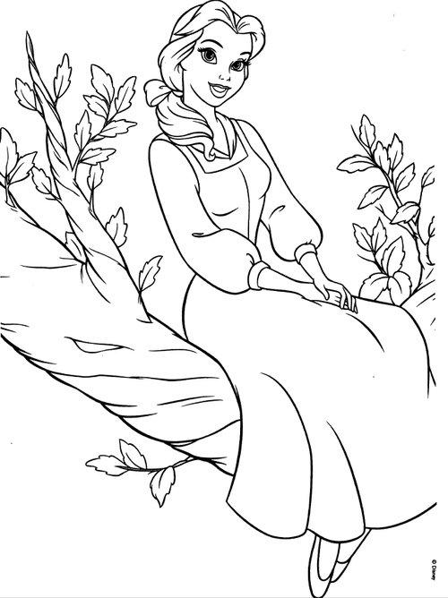 Great Belle Coloring Pages