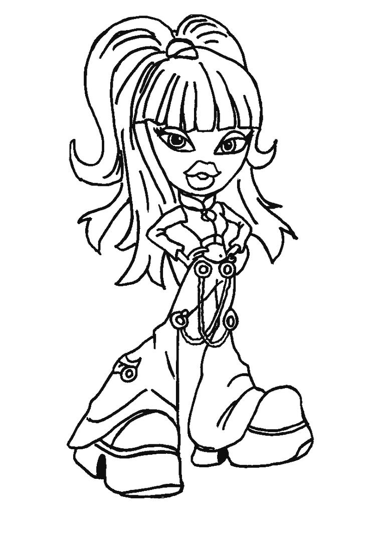 Great Bratz Cheerleading Coloring Pages