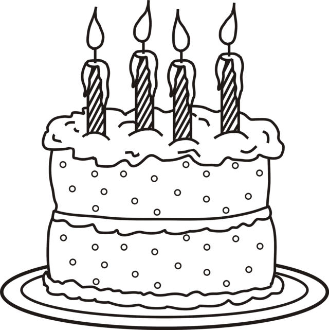 Great Cake Coloring Pages