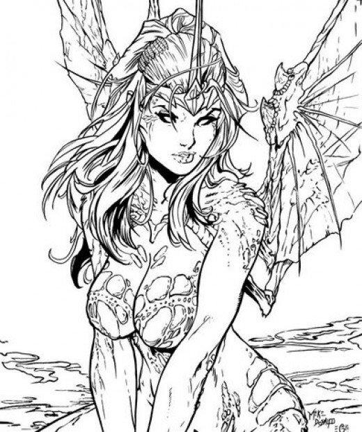 Great Coloring Pages For Teenagers Difficult Fairy 1