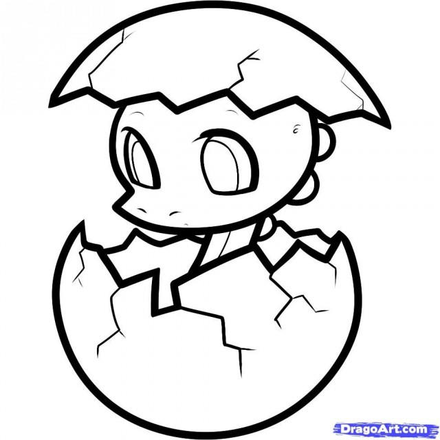 Great Cute Baby Dinosaurs Coloring Pages